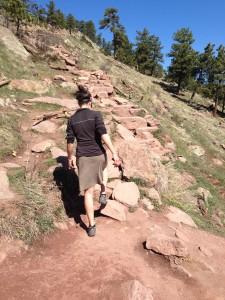 Kathy hiking